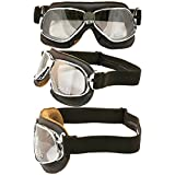 Nannini Cruiser Leather Goggles (Brown Leather/Silver Mirror Lens)