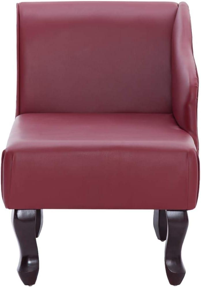 vidaXL Chaiselongue Recamiere Couch Sofa Sessel Chaise Relaxliege Loungesofa Liege Schlafsofa Liegesessel Schlafcouch Bettsofa Kunstleder Weinrot Weinrot