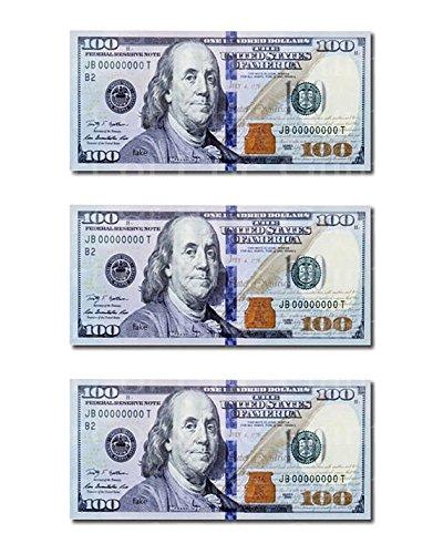 (1/2 Sheet - 100 Dollar Bills Birthday - Edible Cake/Cupcake Party)