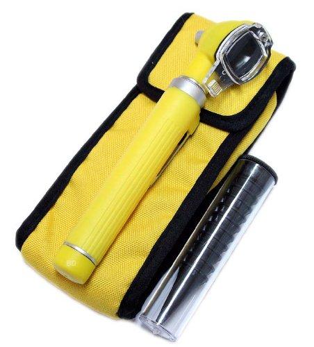 Yellow Fiber Optic Otoscope Mini Pocket Medical Ent Diagnostic Set