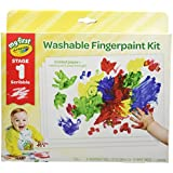 Crayola My First Finger Paint for Toddlers, Painting Paper Included, Gift