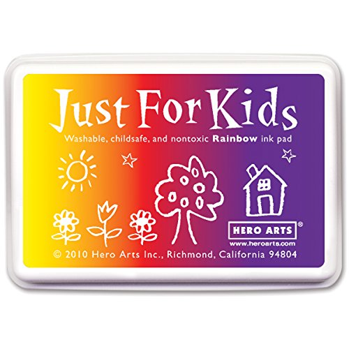 Hero Arts Rubber Stamps Just for Kids, Rainbow (Rainbow Washable Pad Stamp)