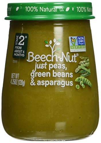 Stage 2 Peas Green Beans & Asparagus (Pack of 10) by Beech-Nut