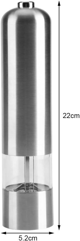 Edelstahl Gewürzstreuer elektrische Pfeffermühle automatische Salzmühle
