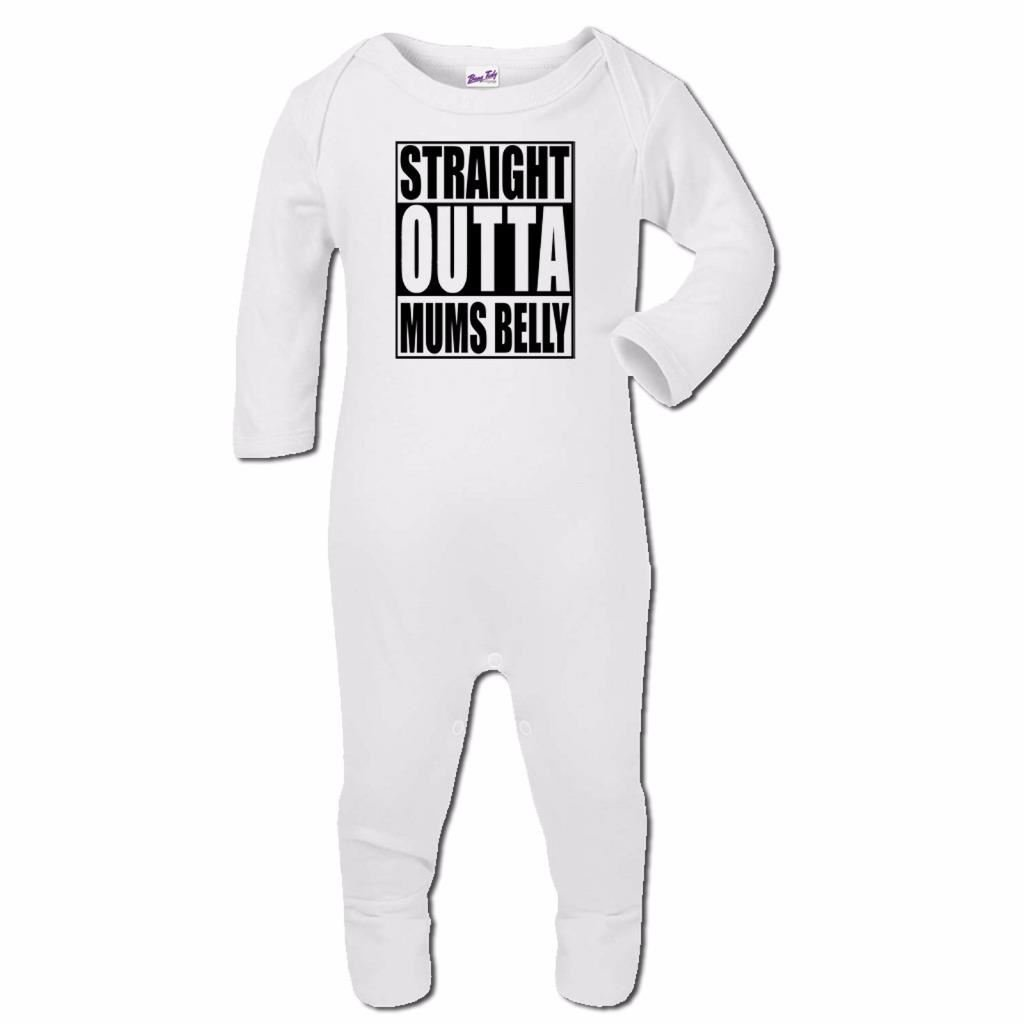 Bang Tidy Clothing Baby Romper Suit Boy Girl One Piece Straight Outta Mums Belly