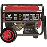 Milbank Portable Generator with Electric Start, 6500W
