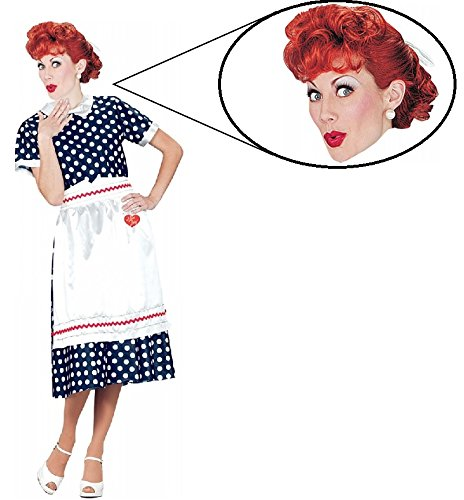 I Love Lucy Costume Wig (I Love Lucy TV Show Woman Costume And Wig Set (Small (6-8)))