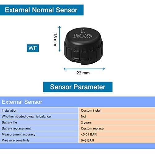 YOKARO Tire Pressure Monitoring System, Hard-wire TPMS with Adjustable Angle Monitor - 4 External Sensors by YOKARO (Image #4)