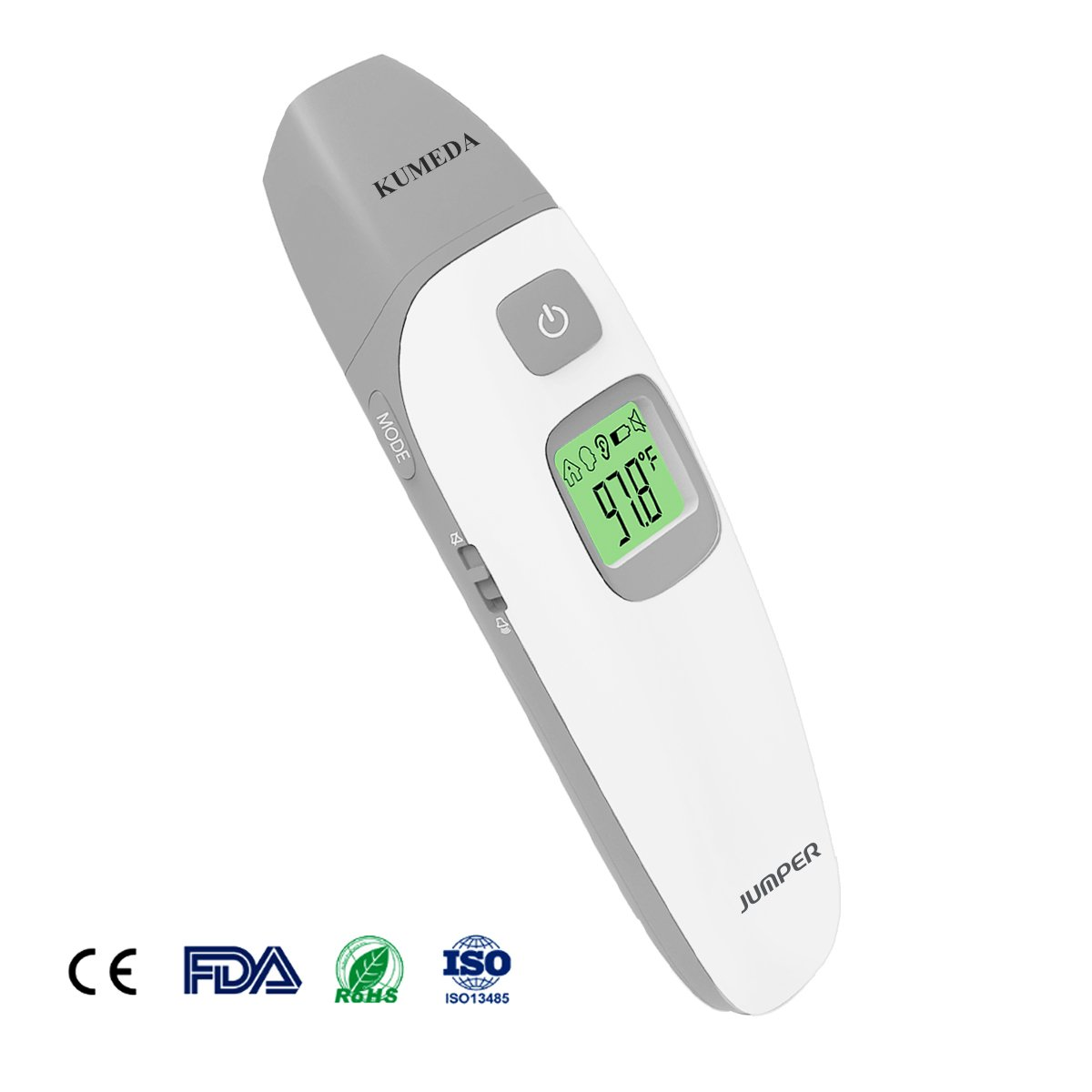 Baby Thermometer Forehead and Ear,KUMEDA FDA and CE Approved Clinical Medical Digital Thermometer Quick Read, No Touch With Fever Warning, Mute Function for Baby, Children and Adults.