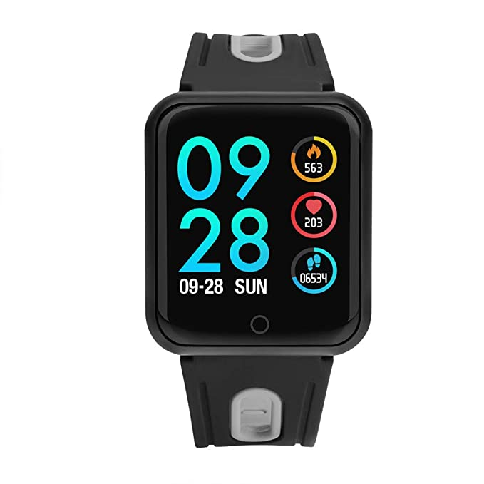 Amazon.com: WoCoo Smart Watch,Waterproof Fitness Activity Tracker with Sport Monitor,SmartCcamera Control,Compatible iOS/Android(glamour black,Gift for ...