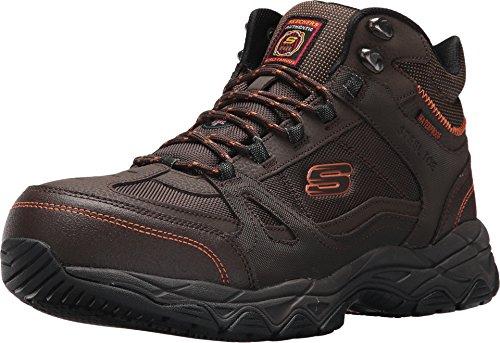 (Skechers Work Ledom ST WP Steel Toe Waterproof Mens Boots Brown 11)