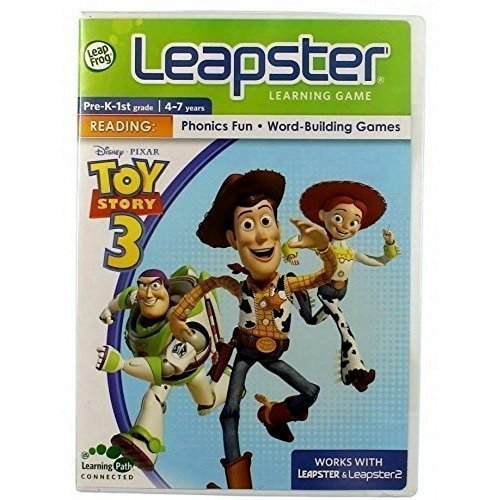 Learning Game Toy Story 3 Phonics Fun Word Building Reading Games Leap Frog Leapster Preschool K to 1st Grade 4 - 7 Years Old - Exciting Game Library Grows with Your Child