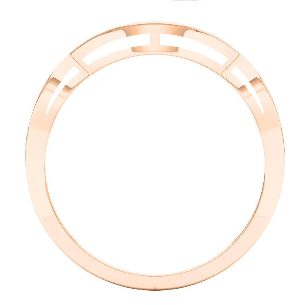Dazzlingrock Collection 0.10 Carat (ctw) 10K White Diamond Ladies Wedding Contour Guard Ring 1/10 CT, Rose Gold, Size 7 by Dazzlingrock Collection (Image #4)