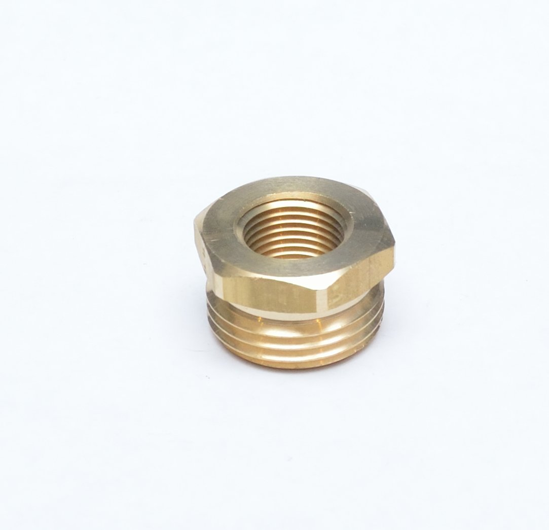 "FASPARTS 3/8"" Female NPT FPT FIP to 3/4"" Male GHT Garden Hose Thread Adapter Brass Fitting Fuel/Air/Water/Boat/Gas/Oil WOG House/Boat/Lawn/Power Wash/Irrigation"