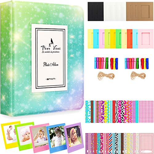Big Trend 2×3 Inch Photo Paper Film Album Set for Fujifilm Instax Mini Camera, Polaroid Snap, Z2300, SocialMatic Instant Cameras & Zip Instant Printer (Galaxy-3, 64 Pockets)