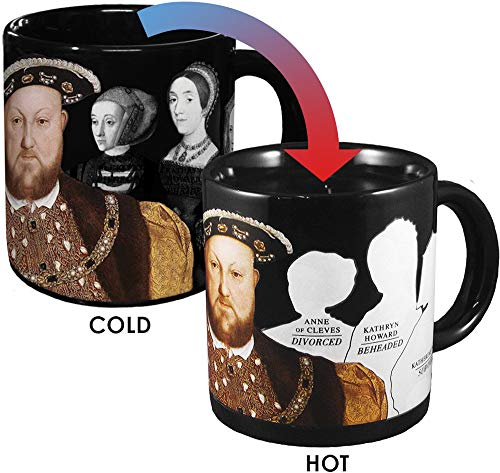 (Henry VIII Disappearing Coffee Mug - Add Hot Water and Watch Henry's Wives Disappear - Comes in a Fun Gift Box - by The Unemployed Philosophers Guild)
