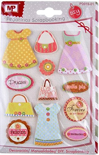 MP PD019–01Set of 3D Glitter Stickers for Scrapbooking