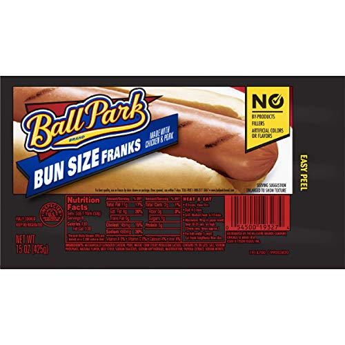 - Ball Park Classic Franks, Bunsize Length, 8 Count