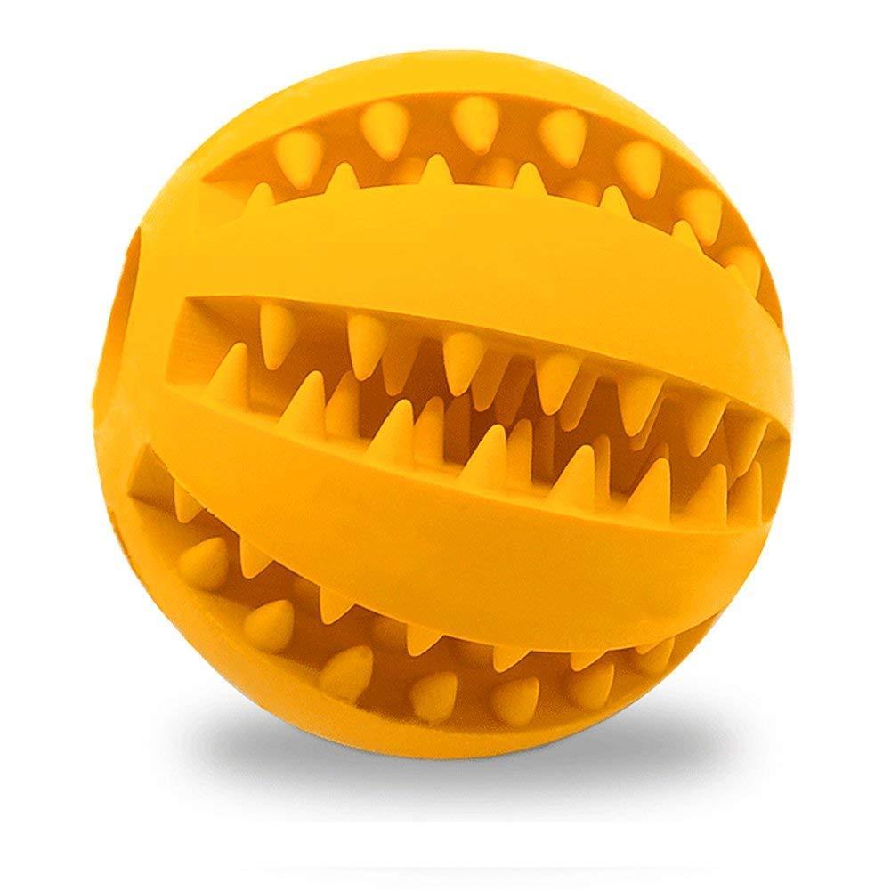 Hemore jouet pour chien Balle pour animal domestique dent de nettoyage d'entraînement Chewing jouer non toxique en caoutchouc souple IQ Balle goût menthe pour animal domestique Chien Balle pour chiens Chiot Animal domestique