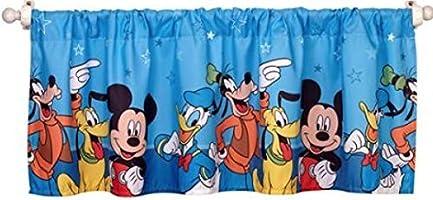 Disney Mickey Mouse Playground Pals Window Valance Blue Magic Behaviour Com