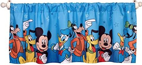 Disney-Mickey-Mouse-Playground-Pals-Window-Valance-Blue