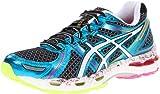Cheap ASICS Women's Gel-Kayano 19 Running Shoe,Black/White/Flash Pink,6 M US