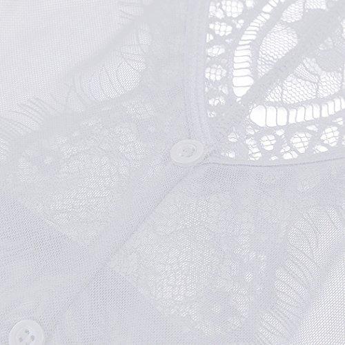 BMAKA Conjuntos de Ropa Interior Muselina y Encaje Ropa Intima Novia Conjunto Lenceria Mujer Blanco