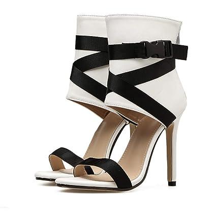 eff399563164 Talons Hauts Femme,Xinantime Mode Femmes Sandales Chaussures d'été Épais  Bandage Partie Sexy
