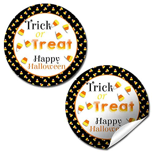 (Trick or Treat Candy Corn Halloween Thank You Sticker Labels, 40 2