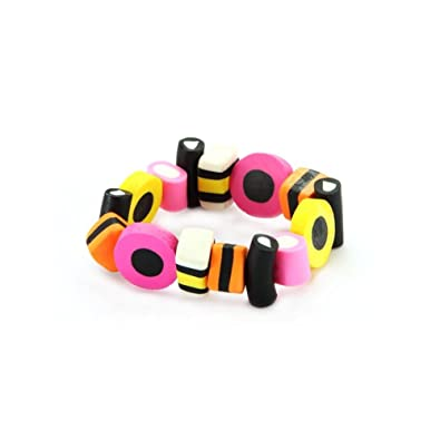 Joe Cool Bracelet Liquorice Allsorts Elasticated Made With Resin by VS65A0WWl