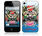 Zing Revolution MS-EDHY90133 Ed Hardy-Love Kills Blue Cell Phone Cover Skin for iPhone 4/4S