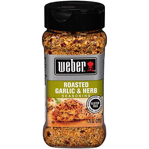 Weber Seasoning, Roasted Garlic and Herb, 7.75 Ounce - 2 Pack