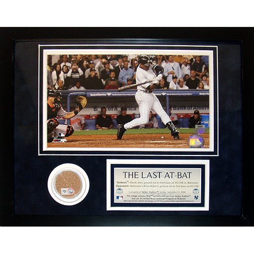 Steiner Sports Mlb New York Yankees Derek Jeter  The Last At Bat  11X14 Mini Dirt Collage