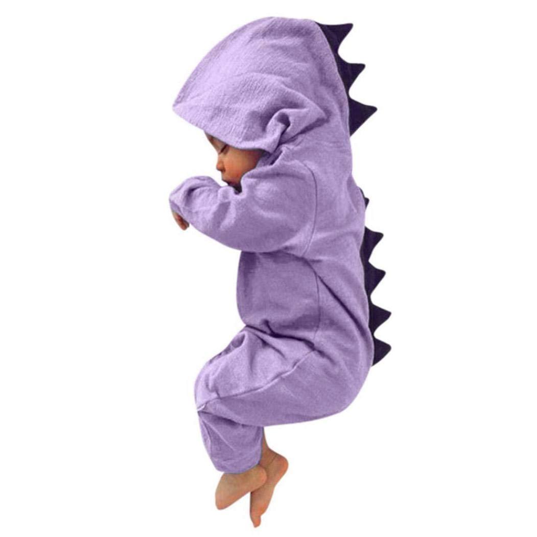 DAY8 Vêtement Bébé Garçon Naissance 0-18 Mois Pyjama Bébé Garçon Hiver 2018Combinaison Bébé Garçon Manche Longue Dinosaure Body Bébé Fille Capuche Grenouillères Barboteuses DAY8_ C02572
