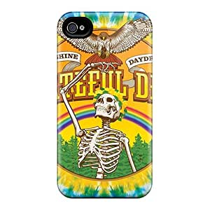 Perfect Cell-phone Hard Covers For Iphone 4/4s With Custom Attractive Grateful Dead Image JamesKrisky