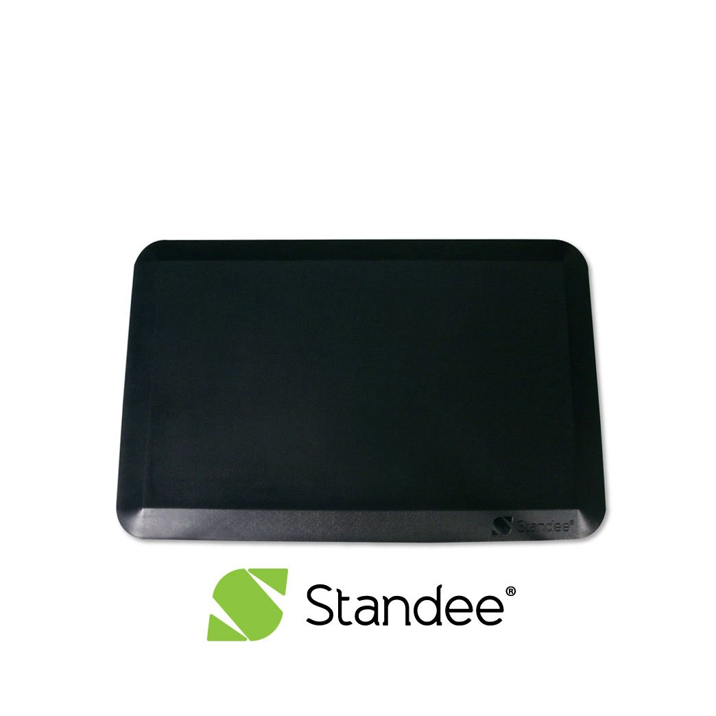 Standee Anti Fatigue Standing Mat, Extra Thick for Comfort, 20 x 30 x 7/8 in. - Designed for Office and Kitchen, Black by Standee Co.