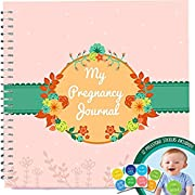 My Pregnancy Journal and Baby Memory Book with Stickers - Baby Scrapbook and Photo Album - Perfect Pregnancy Gifts for First Time Moms - Picture and Milestone Books for Toddlers - Keepsake for Parent