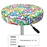 Round Bar Stool Cushions Covers Cool Colorful