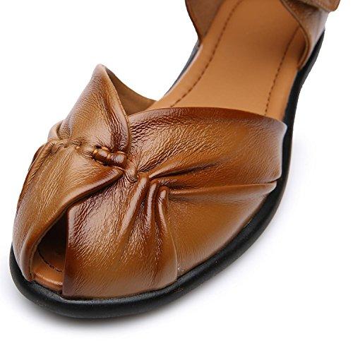 L@YC® Sandalias de mujer Dermatoglifos Flat Bottom Cushions Big Sizes Pumps Satin Wedding Dresses Yellow