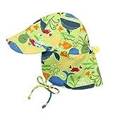 i play. Baby Boys Flap Sun Protection Hat, Green Sealife, 0/6mo