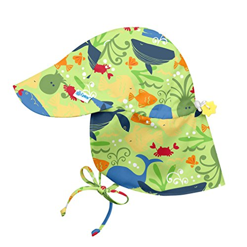 i play. Baby Boys Flap Sun Protection Hat, Green Sealife, 9/18mo (Best Places To Get Swimsuits 2019)