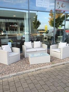 Pablo - Muebles de jardín (3 sillones y Mesa, ratán), Color ...