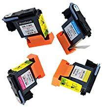 YDINK 4 Pack ( Black+ Magenta+ Cyan + Yellow ) # 11 Printhead Replacement for HP Inkjet 1000 2230 2600 2800 Designjet 500 110plus 510ps 800ps Officejet 9110 9130 Officejet Pro K850 K850dn