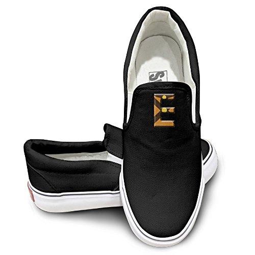 EWIED Unisex Classic Creative Super E Slip-On Shoes Black Size43 ()
