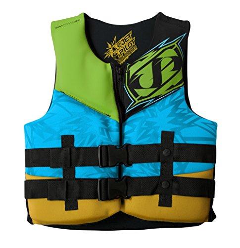 JetPilot Youth Firecracker U.S Coast Guard Approved PFD Vest, Yellow