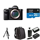 Sony ILCE7SM2/B Full-Frame Mirrorless Interchangeable Lens Camera Deluxe Bundle