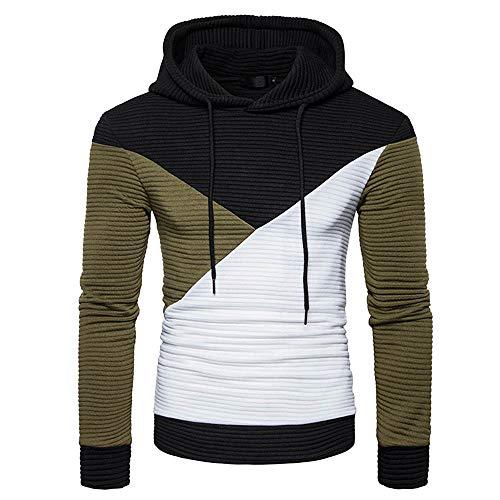 POQOQ T-Shirt Men Casual Vintage Raglan Shirts Baseball Comfort Colors 6014 Adult Heavyweight Ringspun Long Sleeve L Black ()