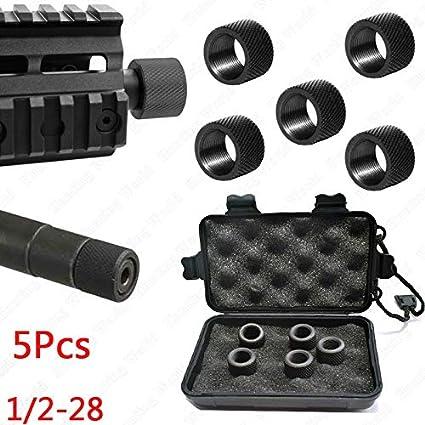 NO LOGO Lixia-Qiang, Táctica 5 / 10Pcs 0,223 5,56 Acero Compensador Compensador Rifle Hilo Protector for la Caza Ruger 10/22 Glock Pistola Beretta (Color : 10Pcs)