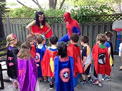 Superhero or Princess CAPE & MASK SET Kids Childrens Halloween Costume