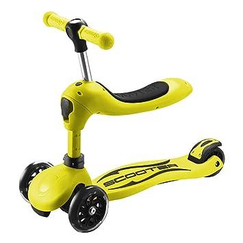 Patinetes de tres ruedas Juguetes al Aire Libre para niños, Juguetes de empuñaduras Ajustables, Patines de Patada para niños de Pedales Anchos: Amazon.es: ...